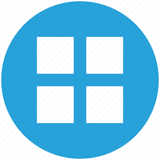 block, grid, grid view, interface, menu, ui, user interface icon icon