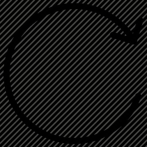 refresh, reload, repeat, restart, retry icon icon