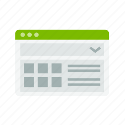 application, design, interface, layout, web, window icon