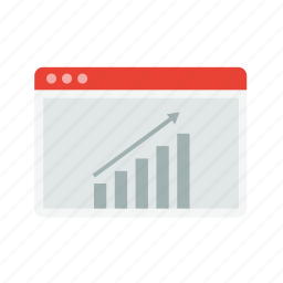 graph, growth, layout, rocket, statistics, web, window icon
