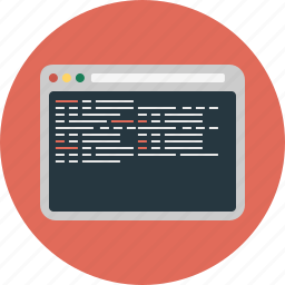 browser, code, coding, internet, programing, web, website icon