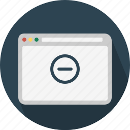 block, browser, page, remove, web, website, window icon