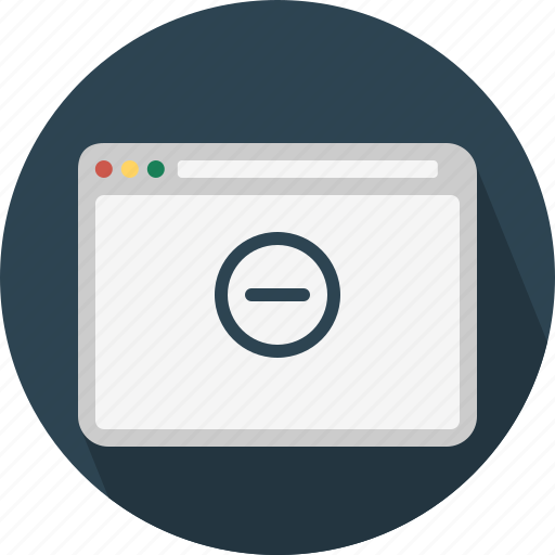 Block, browser, page, remove, web, website, window icon - Download on Iconfinder