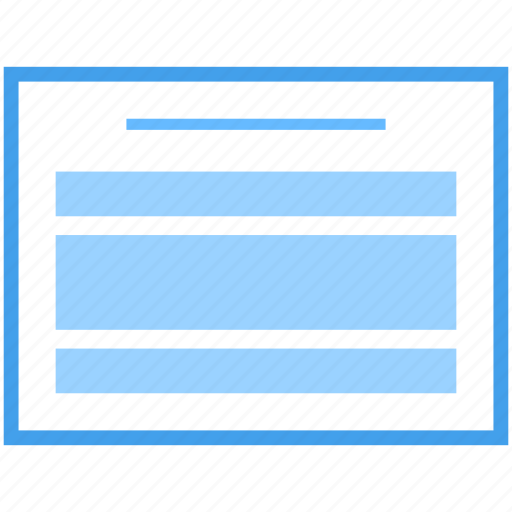 web blog, web design, web interface, web layout, web template, web wireframe icon