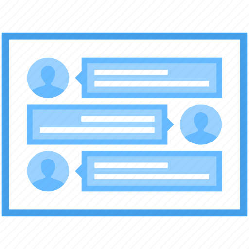 chat room, online communication, online conversation, online discussion, web chatting icon