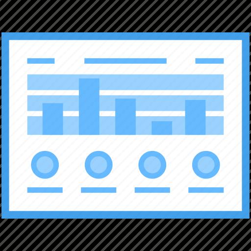 analytics, bar chart, business chart, statistic trend, web chart icon