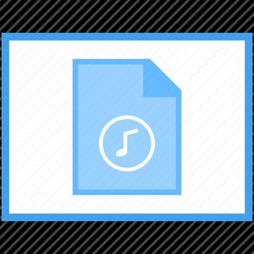 audio file, online documentation, online folder, web document, web file icon