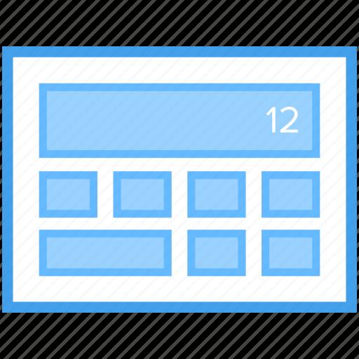 web design, web interface, web layout, web template, web video blog, web wireframe icon