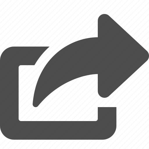 arrow, browser, exit, share, sharing icon