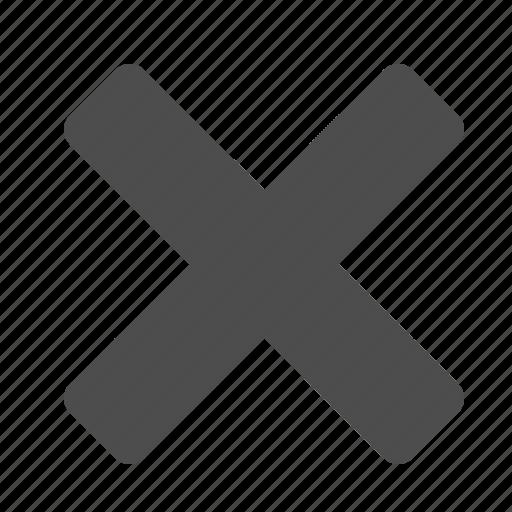 cancel, close, x icon