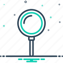detective, discovery, loupe, magnification, magnifier, search, zoom icon