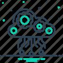 cloud computing, database, hosting, server, storage, technology, upload icon