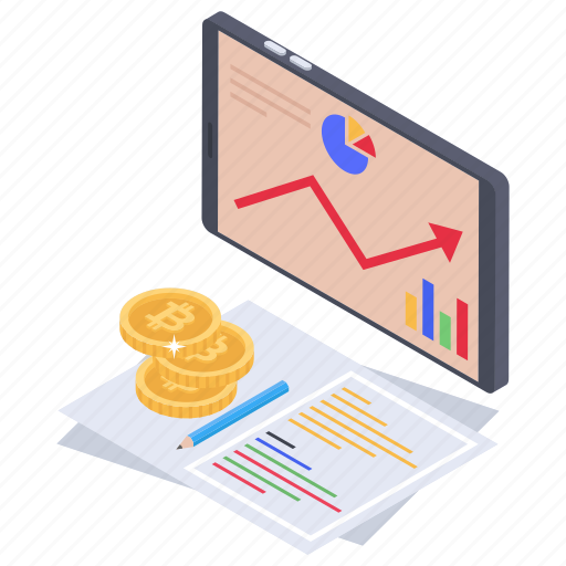 business growth, financial barchart, financial growth, graphical analysis, online business analysis icon