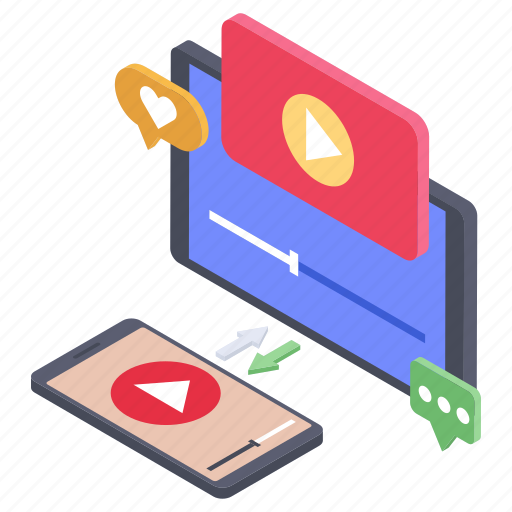 modern education, online video streaming, video guide, video lesson, video tutorial icon