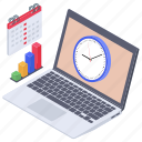 business planning, business schedule, business task schedule, business time, business timetable icon