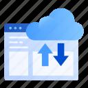 ftp, web, upload, server, online, download, cloud icon