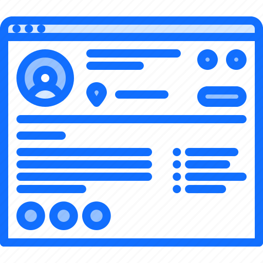 content, page, profile, ui, user, website icon