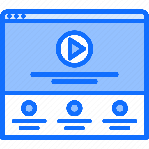 Content, page, player, ui, video, website icon - Download on Iconfinder