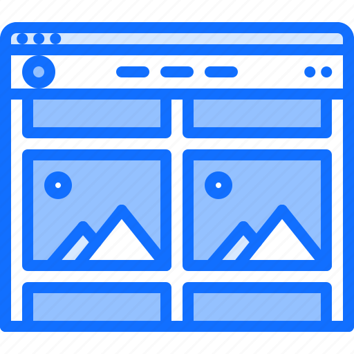 Content, fixed, header, page, ui, website icon - Download on Iconfinder