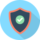 check, protection, security, shield icon