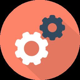 cogs, info, modify, settings icon