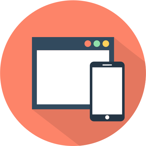 desktop, mobile, phone, responsive icon