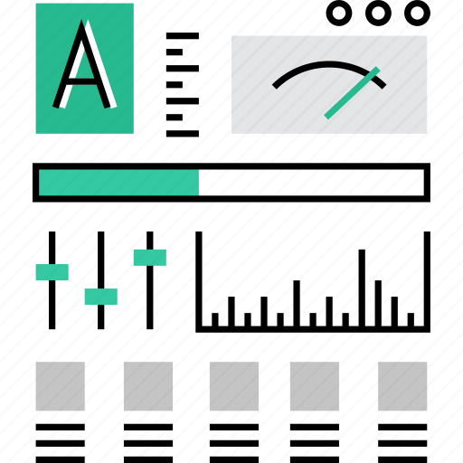 admin, appliance, device, measurements, panel, rate, scale icon