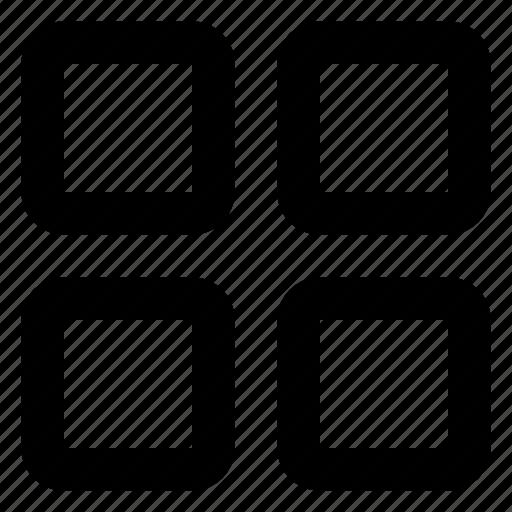 browse, gallery, grid, menu, sort, view, web icon