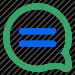 blog, bubble, chat, message, notification, web, write icon