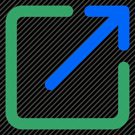 Arroow, external, link, upload, url, web, website icon - Download on Iconfinder