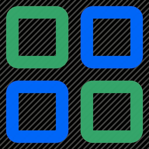 browse, galery, grid, menu, sort, view, web icon
