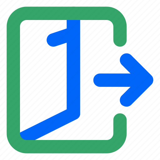 exit, leave, log-out, logout, sign-out, user, web icon