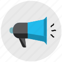 alert, alert icon, announce, announcement, announcer, bullhorn, megaphone icon