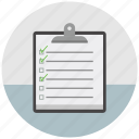 checkbox, checklist, document, features, form, list, to do icon