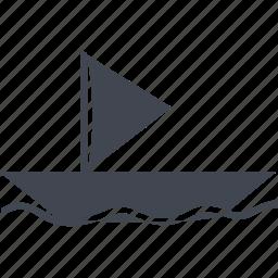 boat, ecommerce, ocean, river, sail, ship, shipping, shopping, transport, transportation, travel icon