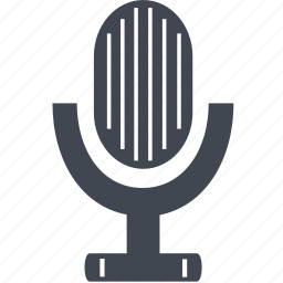 microphone, record, recorder, recording, sound icon