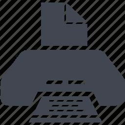 print, printer, printing icon