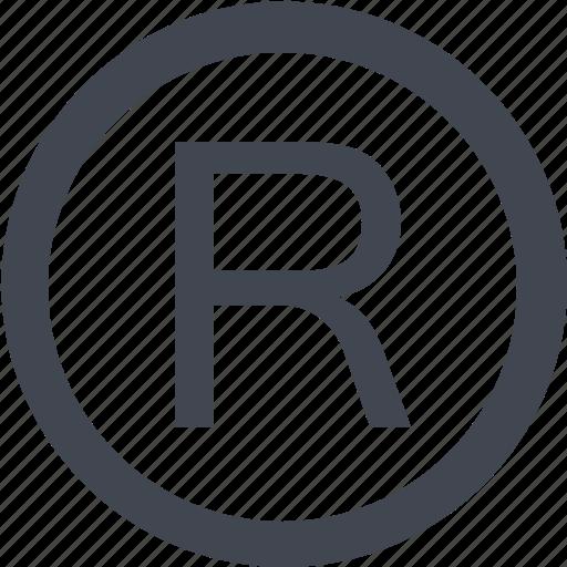 registerd icon