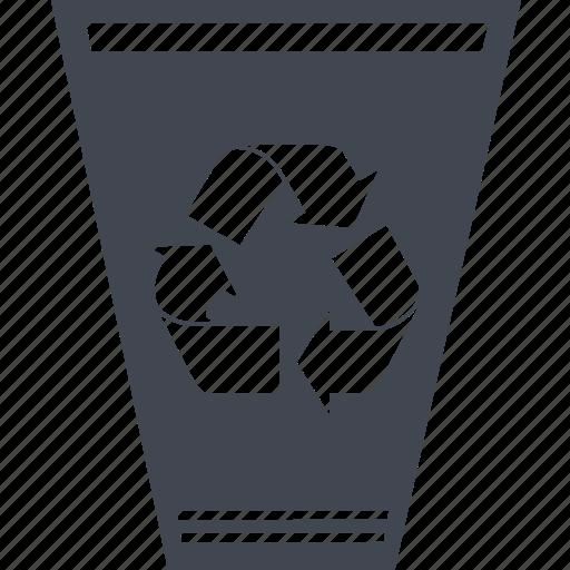 delete, recycle bin, trash can, trush icon