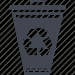 delete, garbage, recycle bin, remove, trash can, trush icon