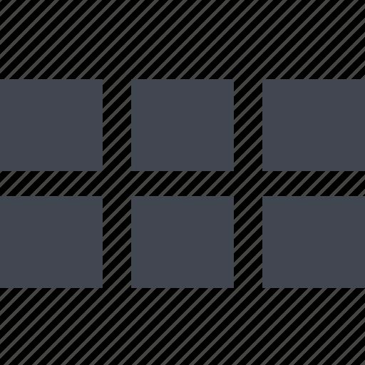 column, list, schedule, table icon