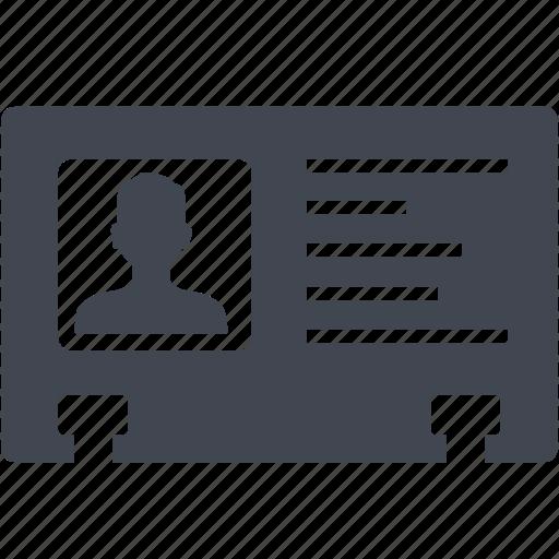 id card, identity icon