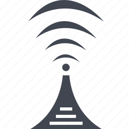 antenna, communication, connection, network, signal, wave, wifi icon