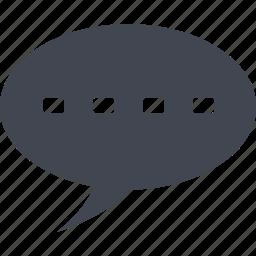 bubble, chat, comment, communication, conversation, letter, mail, message, speech, talk, text icon