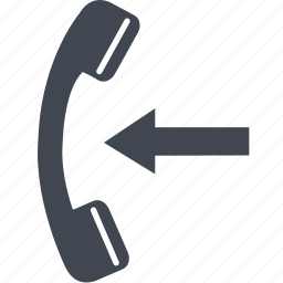 call, communication, in coming, talk, telephone icon