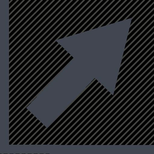 analytics, chart, finance, grow, profit, report, statistics, up icon