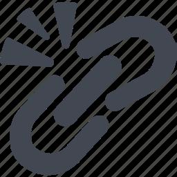 broken chain, chain, unlink icon