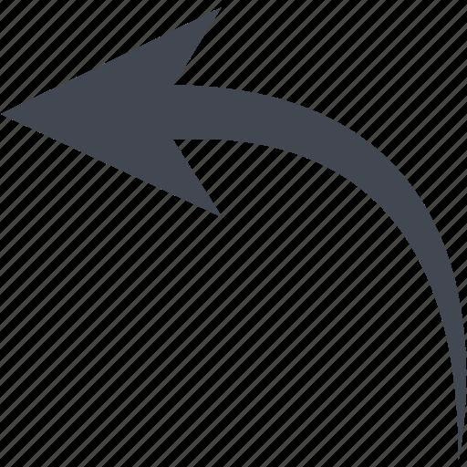 arrow, back, left arrow icon