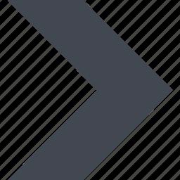 arrow, forward, next, right arrow icon
