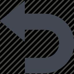arrow, back, left arrow, previous icon